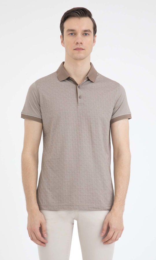 HATEM SAYKI - Bej - Beyaz - Baskılı Regular T-shirt