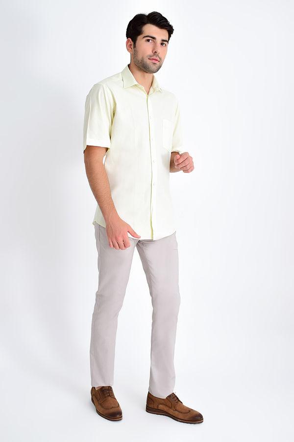 HATEMOĞLU - Bej Desenli Klasik Gömlek (1)