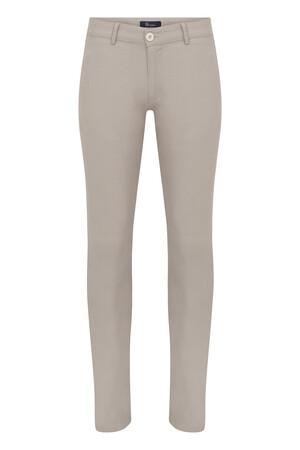 HTML - Bej Desenli Slim Fit Spor Pantolon