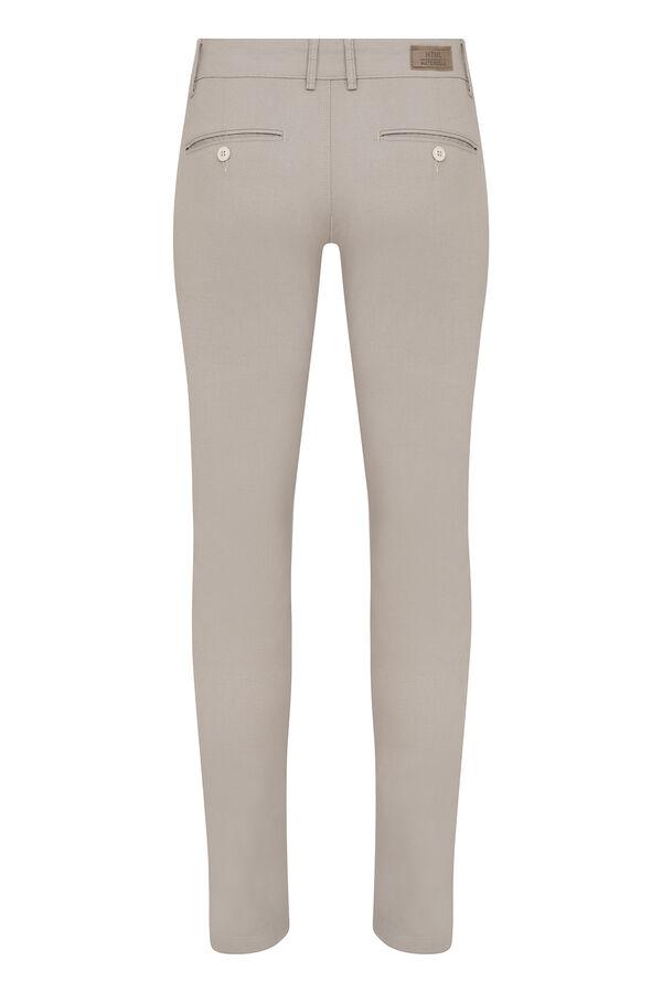 HTML - Bej Desenli Slim Fit Spor Pantolon (1)