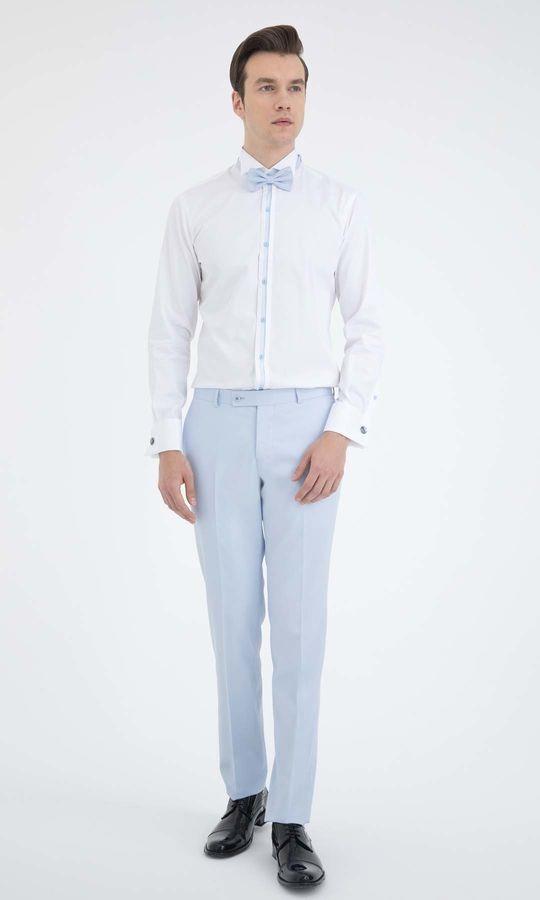 Cerimonia Slim Fit Beyaz Gömlek