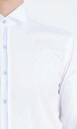 Cerimonia Slim Fit Beyaz Gömlek - Thumbnail