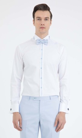 HATEM SAYKI - Cerimonia Slim Fit Beyaz Gömlek