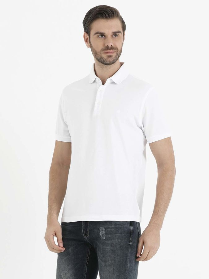 Beyaz Polo Yaka T-shirt