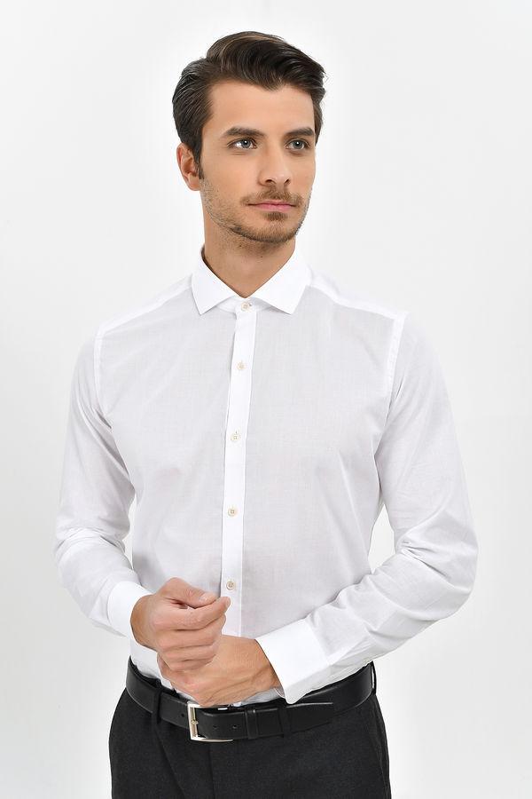 HTML - Beyaz Slim Fit Gömlek