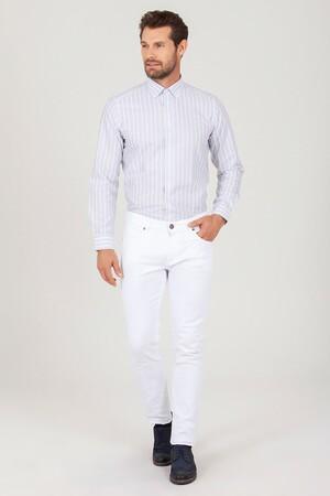 HTML - Beyaz Slim Fit Spor Pantolon (1)