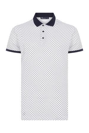 HTML - Beyaz Desenli Polo Yaka Tişört