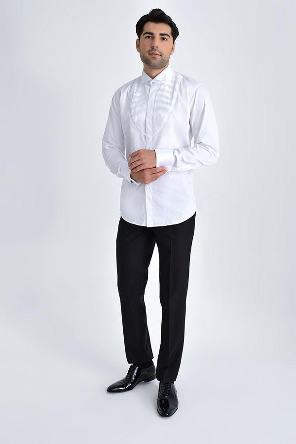 Hatem Saykı - Cerimonia Slim Fit Beyaz Gömlek (1)
