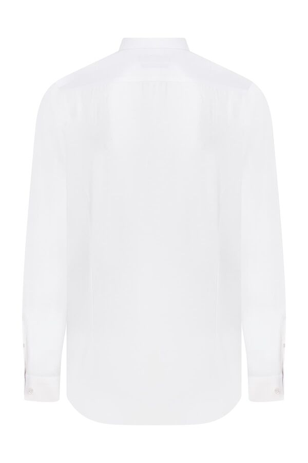 Hatemoğlu - Slim Fit Armürlü Beyaz Gömlek (1)