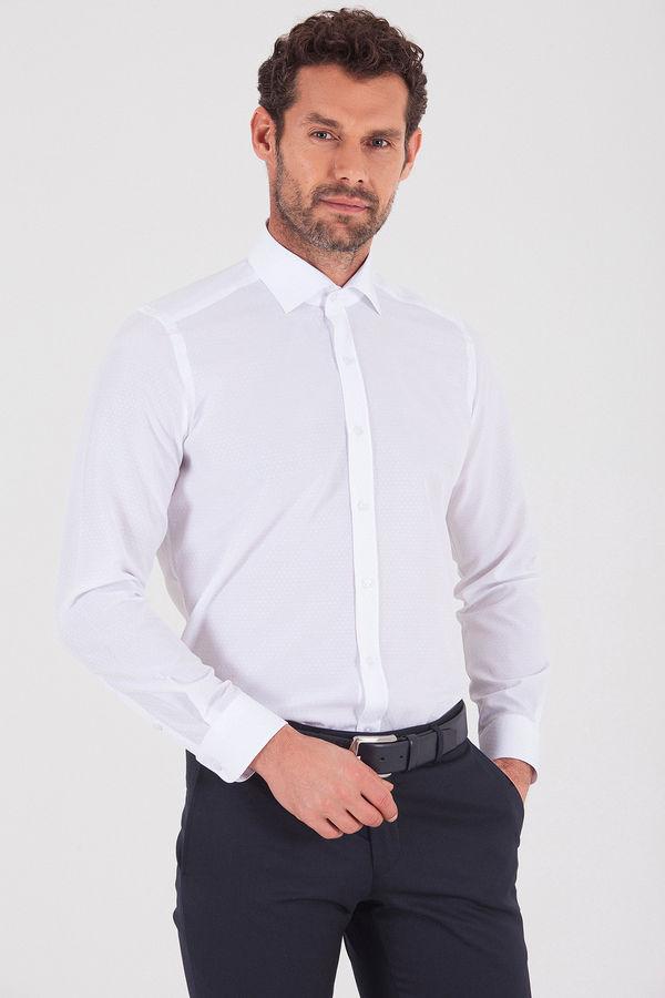 HATEMOĞLU - Beyaz Slim Fit Gömlek