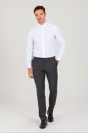 Hatemoğlu - Beyaz D. 2 Desenli Slim Fit Gömlek (1)