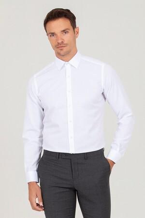 Hatemoğlu - Beyaz D. 2 Desenli Slim Fit Gömlek