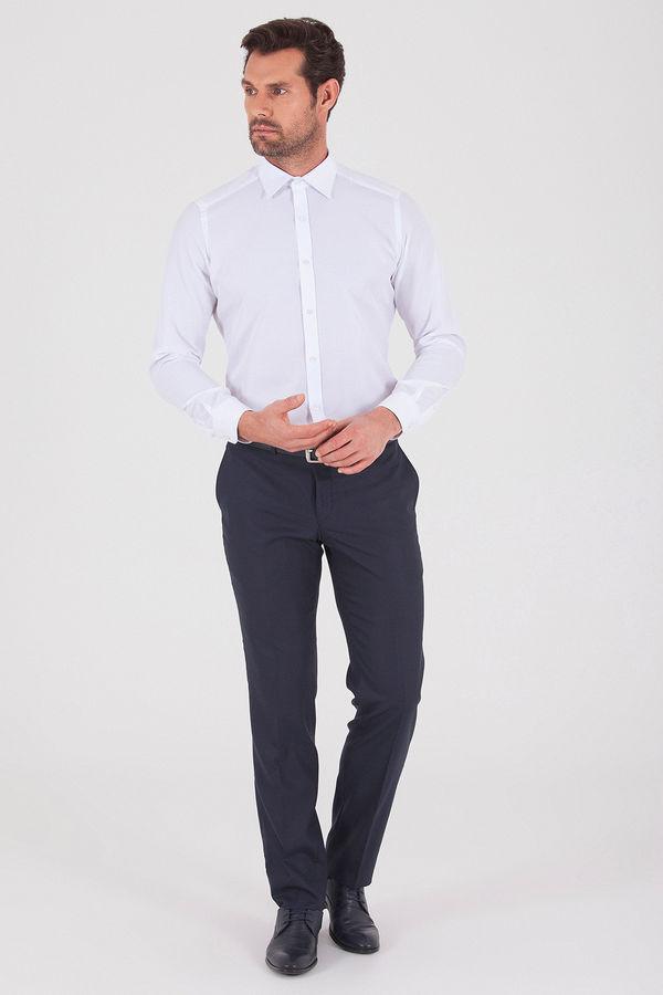 HATEMOĞLU - Beyaz 2 Desenli Slim Fit Gömlek (1)