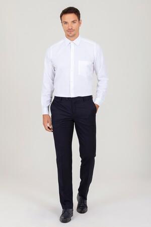 Hatemoğlu - Klasik Beyaz Armürlü Gömlek (1)