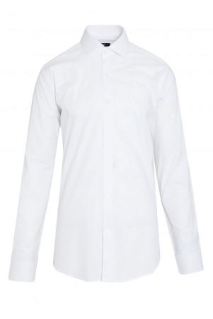 Beyaz Desenli Regular Fit Gömlek - Thumbnail