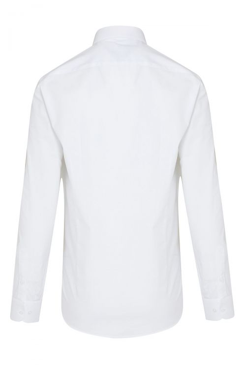 Beyaz Desenli Regular Fit Gömlek