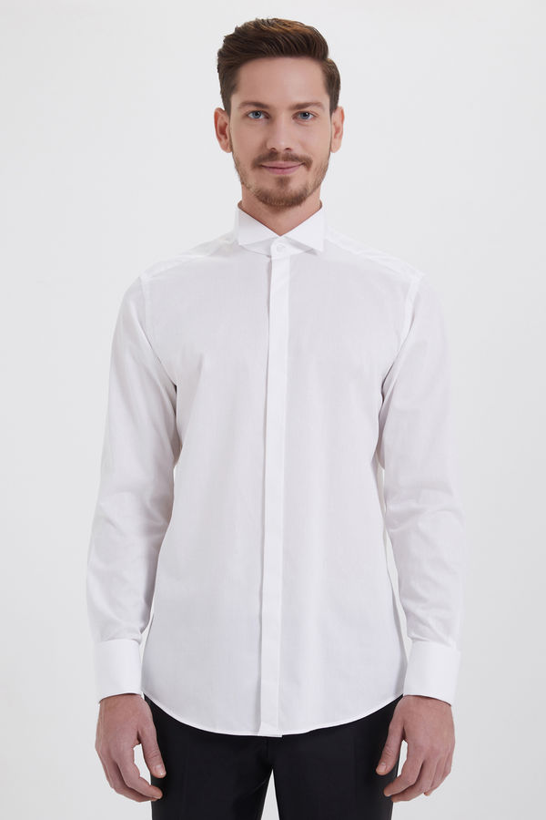 Hatem Saykı - Beyaz Cerimonia Regular Gömlek