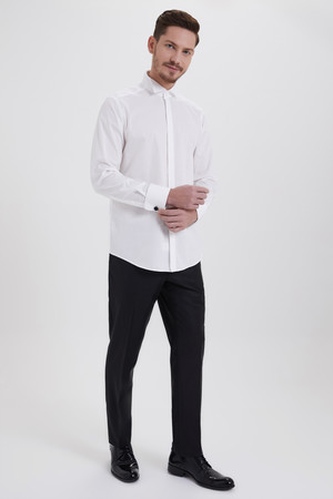 Hatem Saykı - Beyaz Cerimonia Regular Gömlek (1)