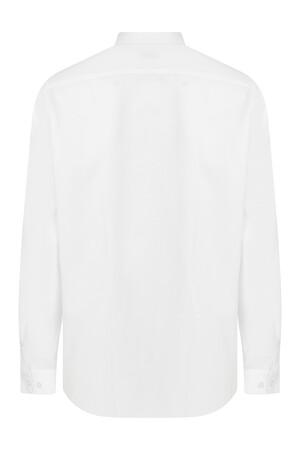 Hatemoğlu - Desenli Beyaz Klasik Gömlek (1)