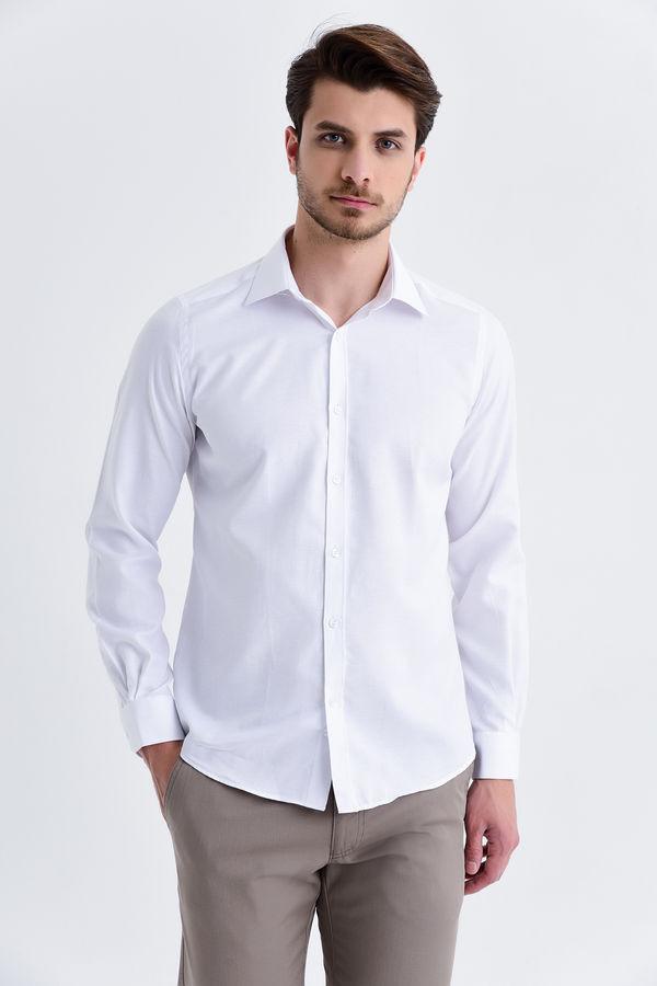 Hatemoğlu - Beyaz Desenli Klasik Gömlek