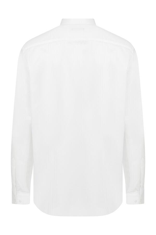 Hatemoğlu - Regular Fit Armürlü Beyaz Gömlek (1)