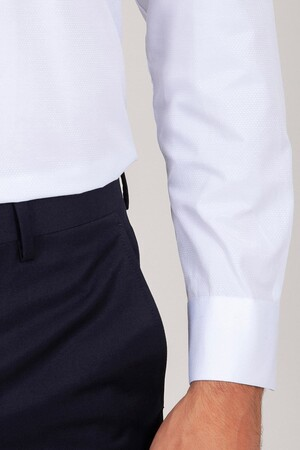 Regular Fit Beyaz Gömlek - Thumbnail