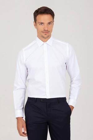 Hatem Saykı - Regular Fit Beyaz Gömlek