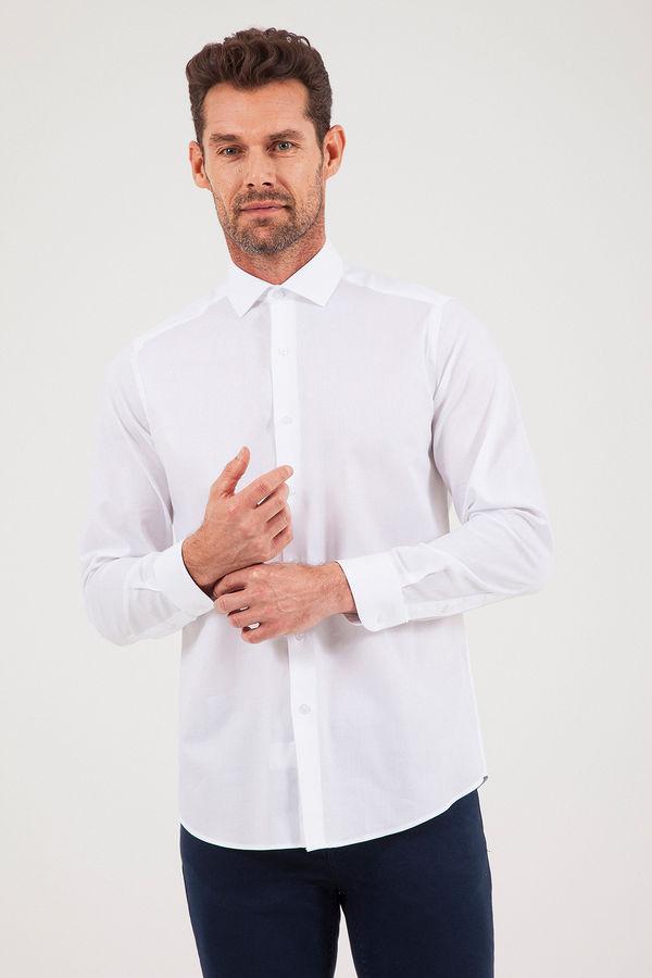 HATEM SAYKI - Beyaz Desenli Regular Gömlek