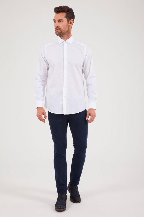 HATEM SAYKI - Beyaz Desenli Regular Gömlek (1)
