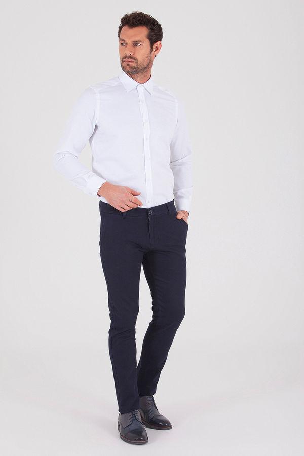 Hatem Saykı - Desenli Regular Beyaz Gömlek (1)