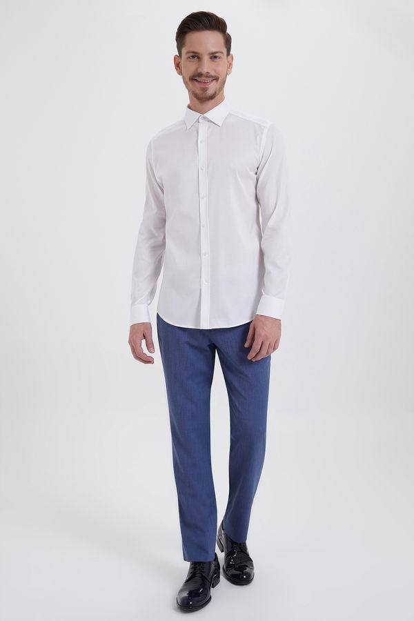 HATEM SAYKI - Beyaz Desenli Slim Fit Gömlek (1)
