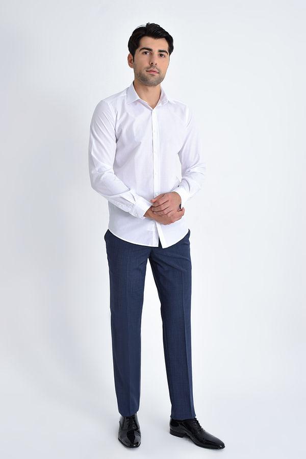 Hatemoğlu - Slim Fit Beyaz Spor Gömlek (1)