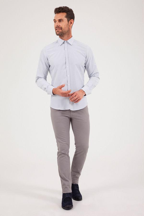 HATEMOĞLU - Beyaz Desenli Slim Fit Gömlek (1)