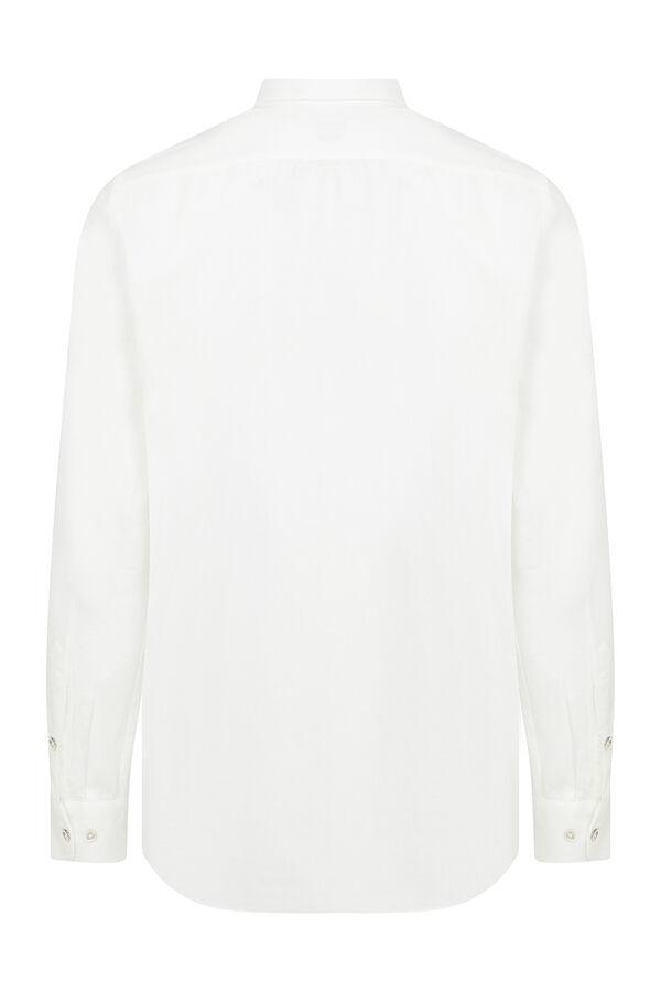 Hatem Saykı - Slim Fit Armürlü Beyaz Gömlek (1)