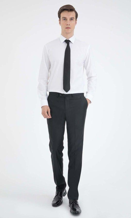 Hatemoğlu - Beyaz Kareli Slim Fit Gömlek (1)