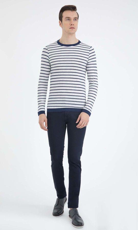 HTML - Beyaz-Lacivert Sweatshirt (1)