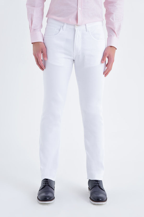 HATEMOĞLU - Beyaz Petek Regular Pantolon