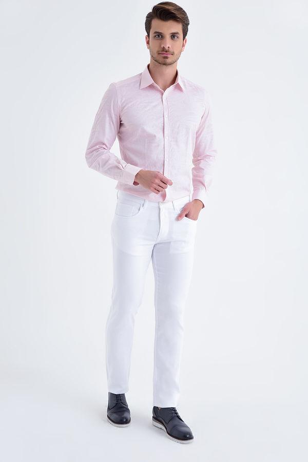 HATEMOĞLU - Beyaz Petek Regular Pantolon (1)
