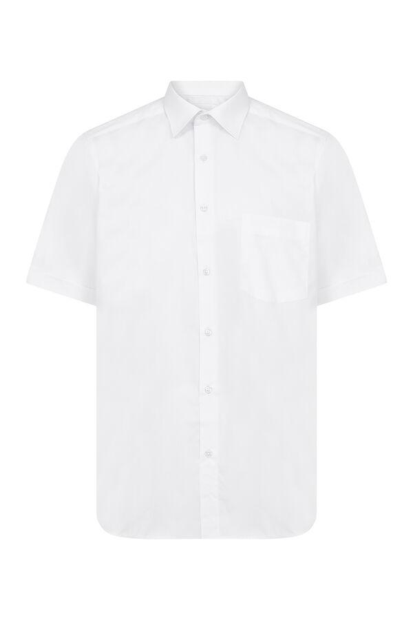 Hatemoğlu - Beyaz Cepli Kısa Kol Klasik Gömlek