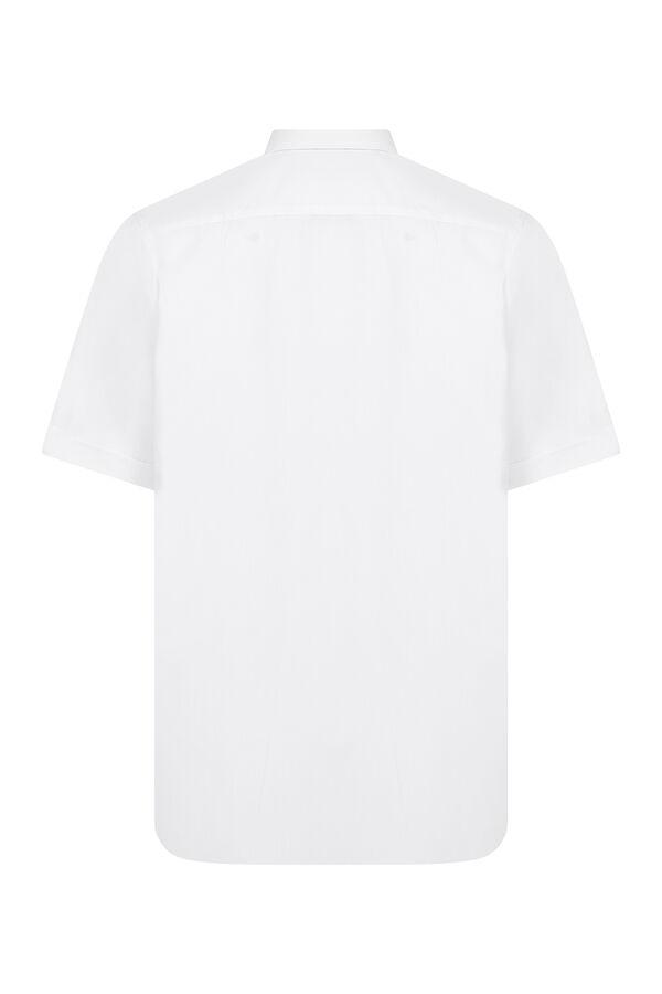 Hatemoğlu - Beyaz Cepli Kısa Kol Klasik Gömlek (1)