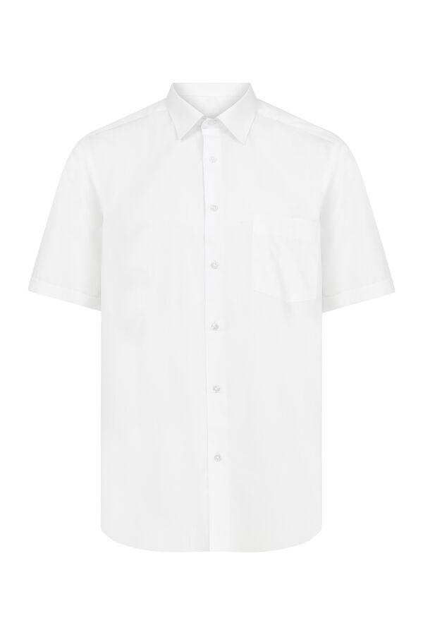 Hatemoğlu - Kısa Kol Beyaz Klasik Gömlek
