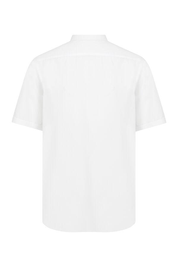 Hatemoğlu - Kısa Kol Beyaz Klasik Gömlek (1)