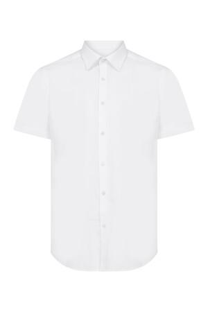 Beyaz Slim Fit Kısa Kol Gömlek - Thumbnail
