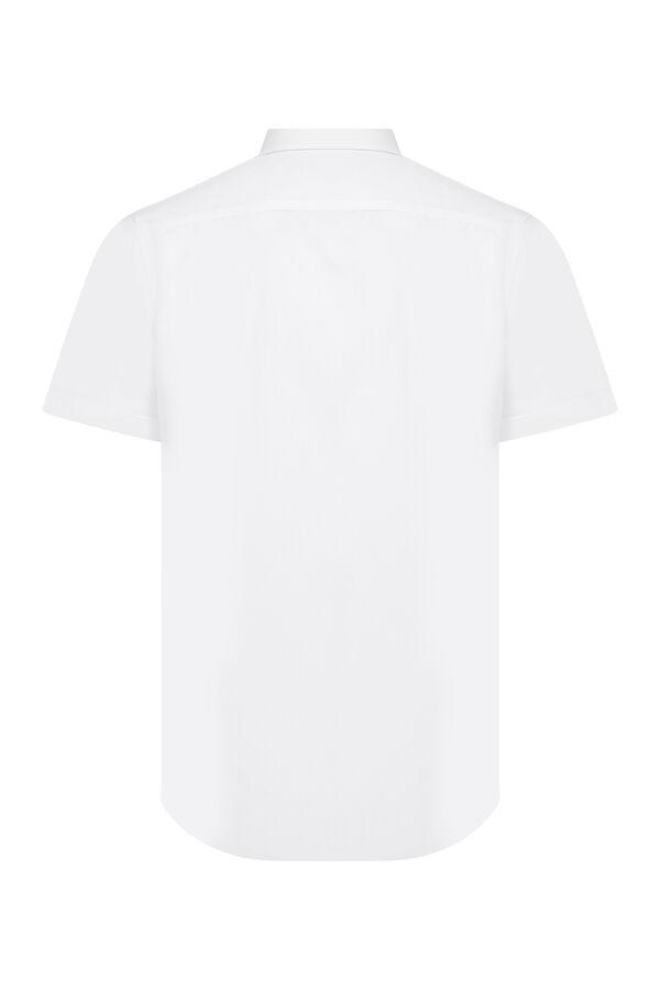 Hatemoğlu - Beyaz Slim Fit Kısa Kol Gömlek (1)