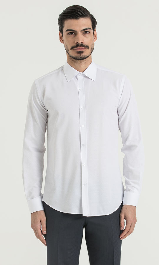 HATEM SAYKI - Beyaz Slim Fit Gömlek
