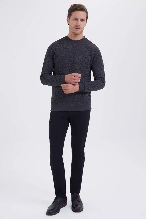 HTML - Bisiklet Yaka Antrasit Sweatshirt (1)