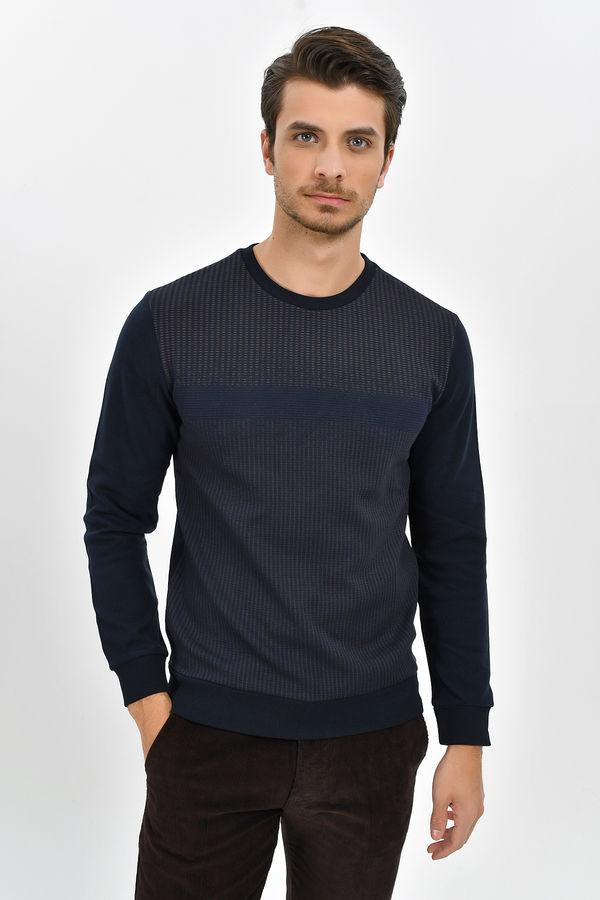 HTML - Bisiklet Yaka Lacivert Sweatshirt