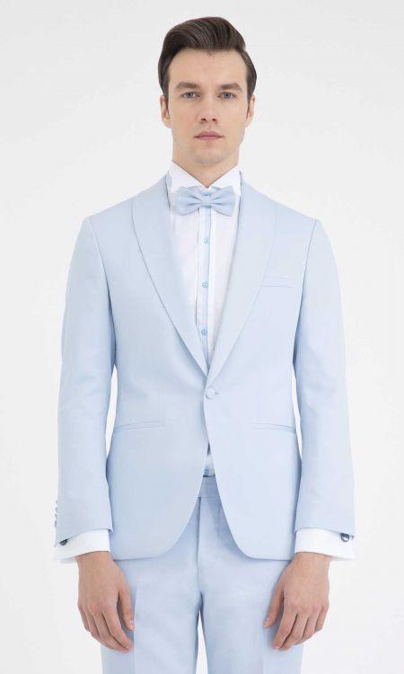 HATEM SAYKI - Mavi Cerimonia Slim Fit Takım Elbise (1)