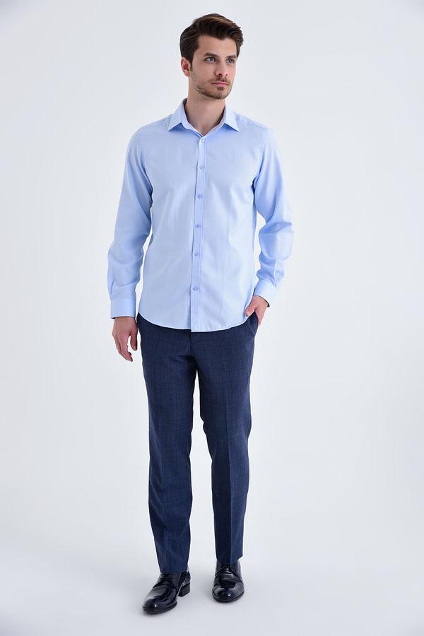 HATEMOĞLU - Mavi Desenli Regular Gömlek (1)