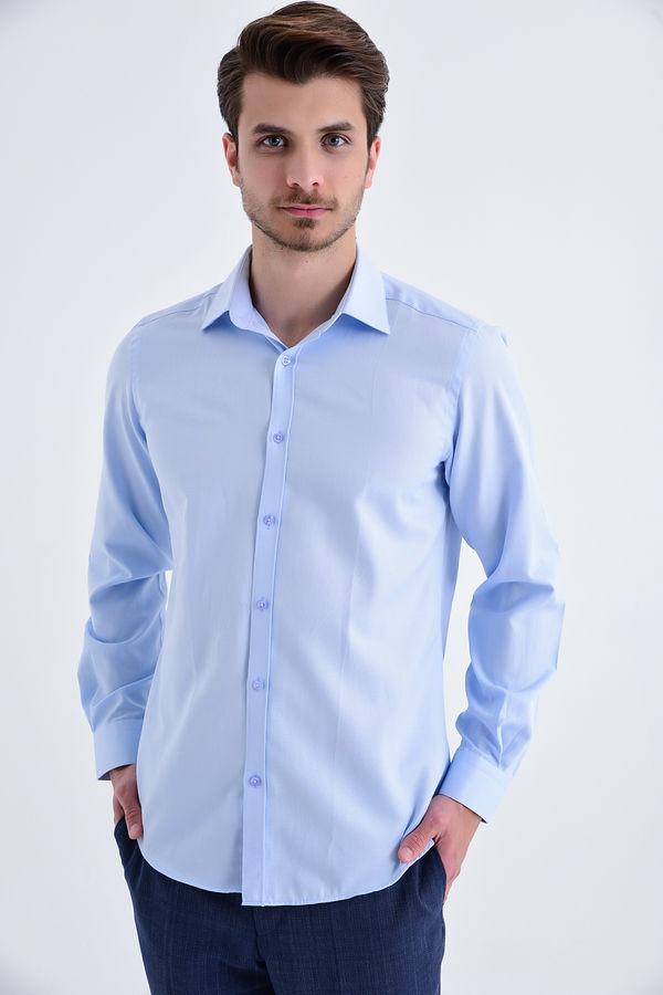 HATEMOĞLU - Mavi Desenli Regular Gömlek
